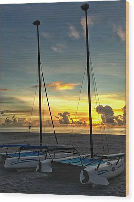 Sailing Vessels  Wood Print