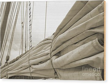 Sails Are Down 2 Wood Print