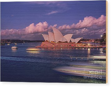 Wood Print featuring the photograph Sails In The Clouds By Kaye Menner by Kaye Menner