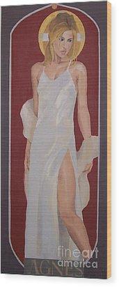 Saint Agnes Wood Print
