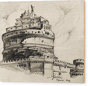 Saint Angel Castle Wood Print