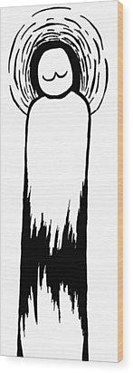Saint Cronkle Wood Print by Jera Sky
