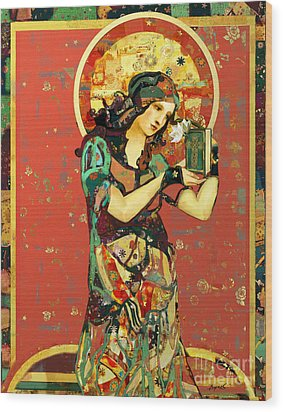 Saint Dymphna Wood Print