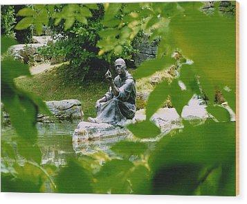 Saint Fiachras Garden  Wood Print by Martina Fagan