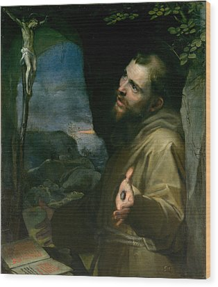 Wood Print featuring the painting Saint Francis by Federico Barocci