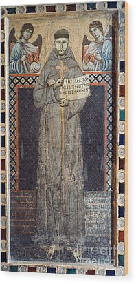 Saint Francis Of Assisi Wood Print by Granger