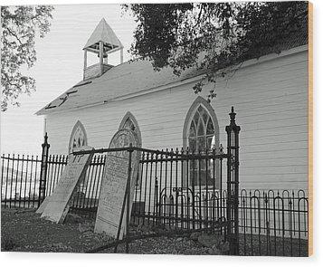 Saint Francis Xavier Catholic Church Wood Print by Troy Montemayor