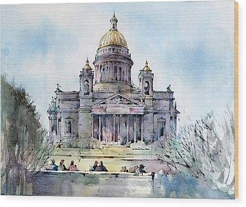 Saint Isaac's Cathedral - Saint Petersburg - Russia  Wood Print