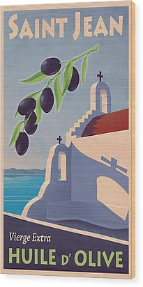 Saint Jean Olive Oil Wood Print by Mitch Frey