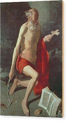 Saint Jerome Wood Print by Georges de la Tour