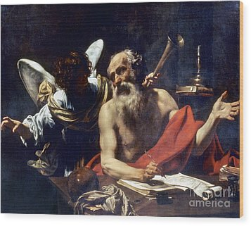 Saint Jerome & The Angel Wood Print by Granger