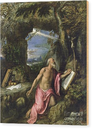 Saint Jerome Wood Print by Titian