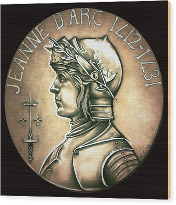 Saint Joan Of Arc Wood Print by Fred Larucci