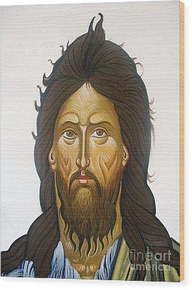 Saint John Wood Print by George Siaba