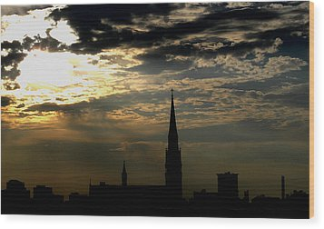 Saint Johns Sunrise Wood Print