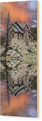 Wood Print featuring the photograph Saint Malo Panorama by Shane Bechler