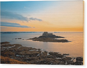 Saint-malo Twilight 2 Wood Print