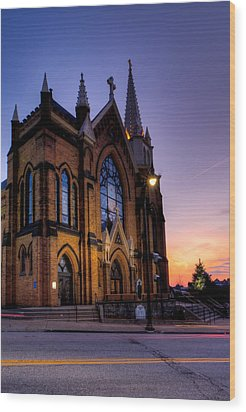 Saint Mary Of The Mount Wood Print by David Hahn