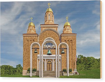 Wood Print featuring the photograph Saint Marys Carpatho-russian Orthodox Church  -  1937saintmarysorthodox172411 by Frank J Benz