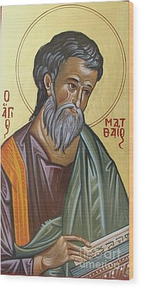 Saint Mathew Wood Print by George Siaba