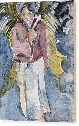 Saint Matthew Wood Print by Mindy Newman