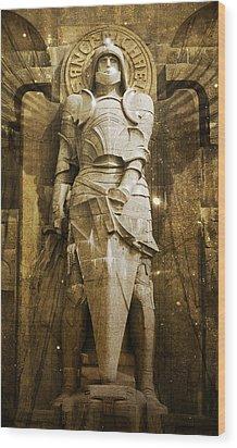 Saint Michael Wood Print by Marc Huebner