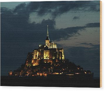 Saint Michel Mount After The Sunset, France Wood Print by Yoel Koskas