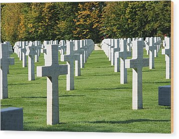 Wood Print featuring the photograph Saint Mihiel American Cemetery by Travel Pics