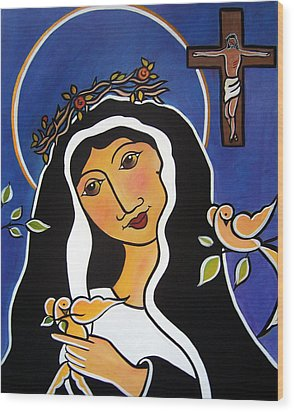 Saint Rita - Patron Of Impossible Causes Wood Print