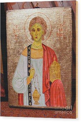 saint Stephan Wood Print by Ciocan Tudor-cosmin