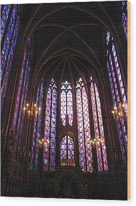 Wood Print featuring the photograph Sainte-chapelle by Christopher Kirby