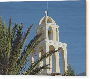 Wood Print featuring the photograph Saintorini A Testiment Of Time by Nancy Bradley