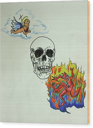 Saints And Sinners Wood Print by Pete Maier