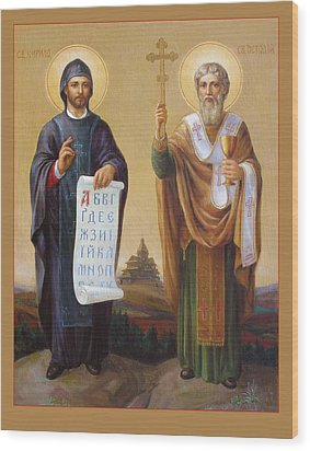 Saints Cyril And Methodius - Missionaries To The Slavs Wood Print