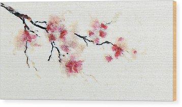 Sakura Branch Wood Print