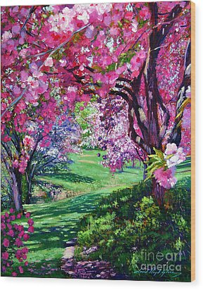 Sakura Romance Wood Print by David Lloyd Glover