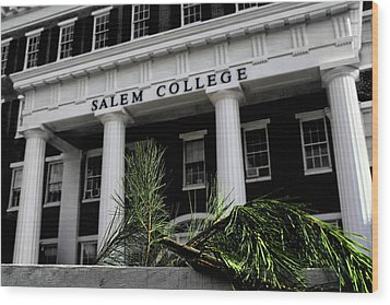Wood Print featuring the photograph Salem College by Jessica Brawley