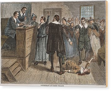 Salem Witch Trials, 1692 Wood Print by Granger