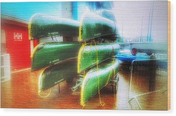 Wood Print featuring the photograph Salford Quays Boats by Isabella F Abbie Shores FRSA