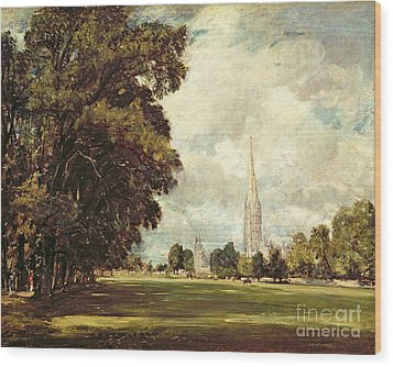 Salisbury Cathedral From Lower Marsh Close Wood Print by John Constable