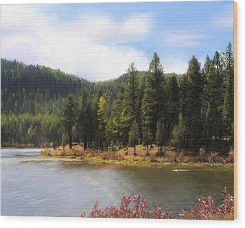 Salmon Lake Montana Wood Print