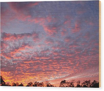 Wood Print featuring the photograph Salmon Sunset by Jeanne Kay Juhos