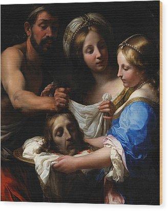Salome With The Head Of Saint John The Baptist Wood Print by Onorio Marinari