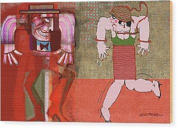 Salon Surrealia Wood Print