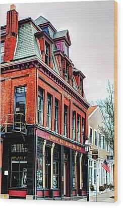 Wood Print featuring the photograph Saloon Bristol Ri by Tom Prendergast