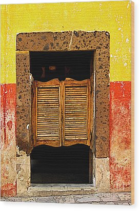 Saloon Door 1 Wood Print by Mexicolors Art Photography