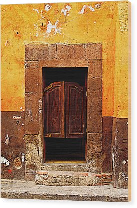 Saloon Door 5 Wood Print by Mexicolors Art Photography