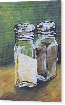 Salt And Pepper I Wood Print by Torrie Smiley
