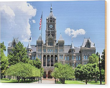 Salt Lake City County Building Wood Print