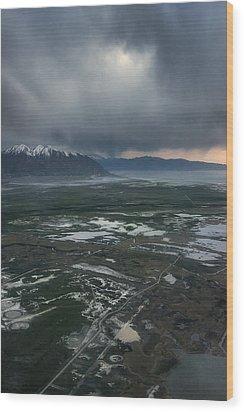 Wood Print featuring the photograph Salt Lake Drama by Ryan Manuel